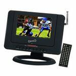 "7"" Portable Rechargeable LCD TV/ DVD Player with USB & SD Inputs Logo Printed"