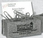 "Paper Clip / Business Card Holder (3 3/4""x1 5/8""x1 7/8"") Logo Branded"