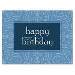Personalized Simple Birthday Card - Periwinkle Blue w/ Unlined White Envelope