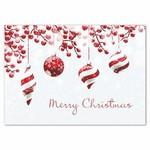 Festive Yuletide Merry Christmas Holiday Card w/ White Unlined Fastick® Envelope Logo Printed