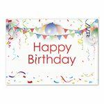 Logo Printed Born to Party Birthday Card w/Silver Lined Envelope