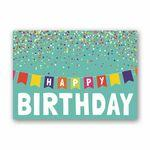 Logo Printed Banner Birthday Birthday Card w/Silver Lined Fastick® Envelope