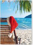 Warmest Wishes Holiday Card w/Red Lined Fastick® Envelope Custom Imprinted