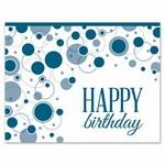 Logo Printed Bubbly Birthday Wishes Greeting Card w/ Unlined White Envelope
