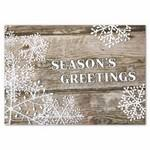 Rustic Greetings Holiday Card w/ White Unlined Envelope Logo Printed
