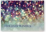 Personalized Prismatic Wish Holiday Card w/Unlined Envelope