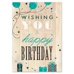 Woodsy Birthday Greeting Card w/ White Unlined Fastick® Envelope Branded