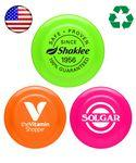 "Custom Printed USA Made Mini 5"" Flying Disc - Neon Colored"