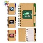 Custom Printed Eco Spiral Notebook w/Pen - Full Color