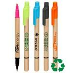 Logo Printed Recycled Highlighter & Pen