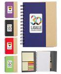 Eco Magnetic Notebook w/Sticky Notes and Flags & Pen -Full Color Custom Imprinted