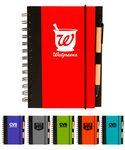 Logo Branded Union Printed, Eco Spiral Notebook Journal w/ Pen,