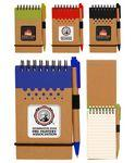 Eco Spiral Notebook Jotter w/ Matching Pen - Full Color Logo Branded
