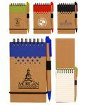 Eco Spiral Notebook Jotter w/Pen Custom Printed