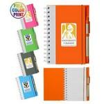 Custom Imprinted Eco Spiral Notebook w/Pen- Full Color
