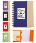 Custom Imprinted Eco Magnetic Notebook w/Sticky Notes and Flags & Pen -Full Color