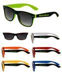 Two Color Black Sunglasses Custom Imprinted