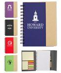 Eco Magnetic Notebook w/Sticky Notes and Flags & Pen Custom Engraved