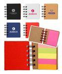 Logo Branded Notebook w/Sticky Notes and Flags