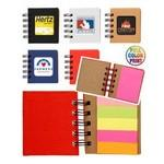 Custom Printed Notebook w/Sticky Notes & Flags - Full Color