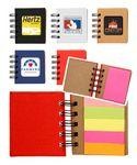 Custom Imprinted Notebook w/Sticky Notes & Flags - Full Color