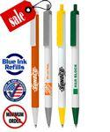 "Custom Engraved Union Printed White & Colored Barrels ""USA Black Ink Pens"" - Clic Stic"