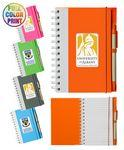 Custom Printed Eco Spiral Notebook w/Pen- Full Color