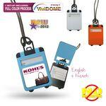 Logo Branded Full Color Suitcase Shaped Luggage Tag with Pop Up Cover