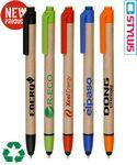 "Logo Branded Union Printed ""Recycled Paper"" Stylus Click Pen"