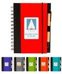 Custom Printed Eco Spiral Notebook Journal w/Recycled Click Pen, - Full Color Print Included