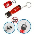 Closeout Flashlight screwdriver Keychain Logo Branded
