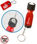 Closeout Flashlight screwdriver Keychain Personalized
