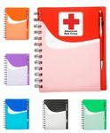 Custom Imprinted Two Tone Wave Notebook w/Sliding Pocket -Full Color