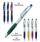 Smart Phone Pen W/Stylus & Comfort Grip-Featured Green Custom Printed