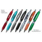 Custom Imprinted Fashion Ballpoint Pen With Comfort Grip & Stylus