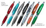 Fashion Ballpoint Pen With Comfort Grip & Stylus Logo Branded