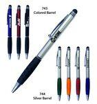 Smart Phone Pen W/Stylus & Comfort Grip - Featured Black Imprinted Logo