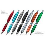 Fashion Ballpoint Pen With Comfort Grip & Stylus Custom Imprinted