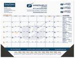 "21 3/4""x17"" Black & Gold Calendar Desk Pads w/ Julian & Contractor Dates & Right Margin Custom Printed"