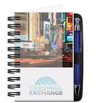 "Logo Branded 4""x6"" Personalized Image Journals w/ 100 Sheets & Pen"