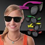 Custom Printed Neon Look Sunglasses