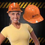 Custom Imprinted Orange Plastic Novelty Construction Hat