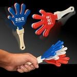 "Logo Branded 7"" Hand Clapper - Red & White & Blue"