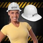 Logo Printed White Plastic Novelty Construction Hat