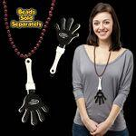 Black & White Hand Clapper w/ Attached J Hook Custom Imprinted