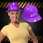 Purple Plastic Construction Hats Branded