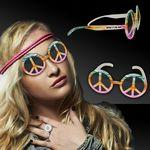 Custom Printed Peace Sign Tie Dye Glasses
