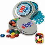 Custom Imprinted Circular Window Tin- Jelly Beans Candy by Color
