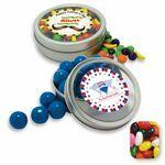 Rim Tin w/ Window Assorted Jelly Beans Candy by Color Custom Printed