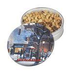 Custom Imprinted Glad Tidings Tin w/ Jumbo Cashews & Deluxe Mixed Nuts